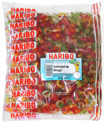 Q80  HARIBO  FRIENDSHIP RINGS 3kg